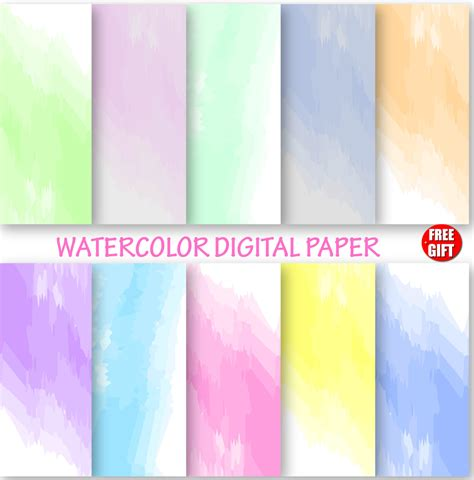 How To Make Ombre Paper - watercolor digital paper water color wallpaper ombre diy