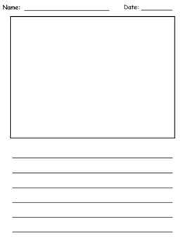 writing paper with picture box a writing paper for the year picture box lined writing