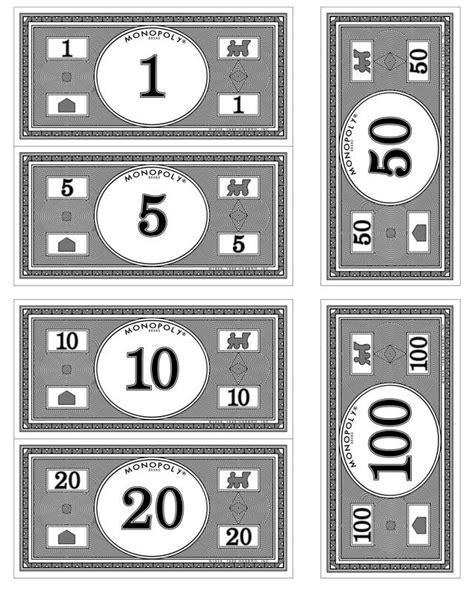 printable monopoly money template printable play money black and white printable 360 degree