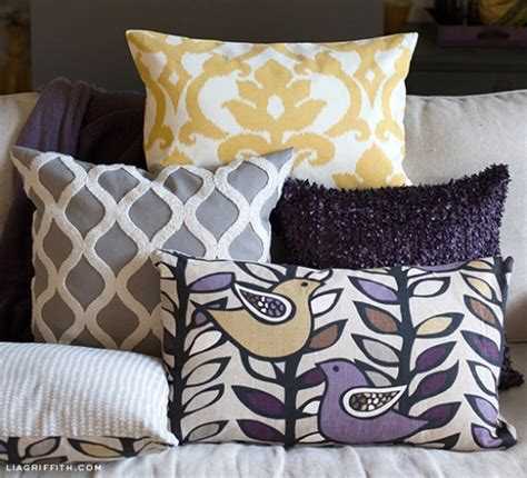 how to make a slipcover for a pillow easy diy zipper pillow covers by lia griffith project