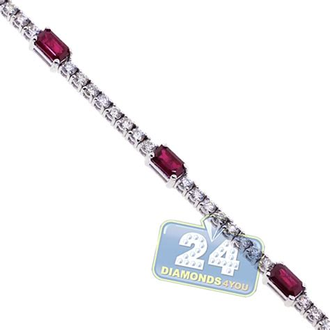 diamond tennis bracelet in 18k white gold 2 blue nile womens ruby diamond tennis bracelet 18k white gold 2 41 ct