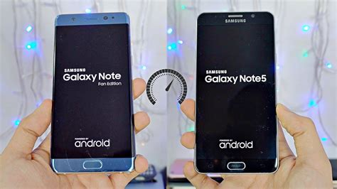 samsung galaxy note fe vs note 5 speed test 4k