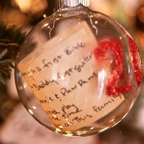 clear ornaments hand written and keepsakes on pinterest