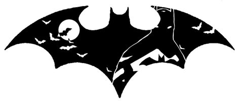 smashed batman symbol tattoo stencil