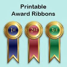 1st Prize Ribbon Template by Printable Award Ribbons