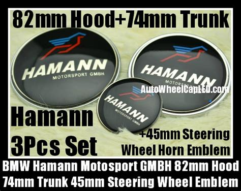 Emblem Stir Bmw Hamann 45mm bmw hamann motorsport gmbh blue bird bonnet boot emblems 82mm trunk 74mm steering wheel