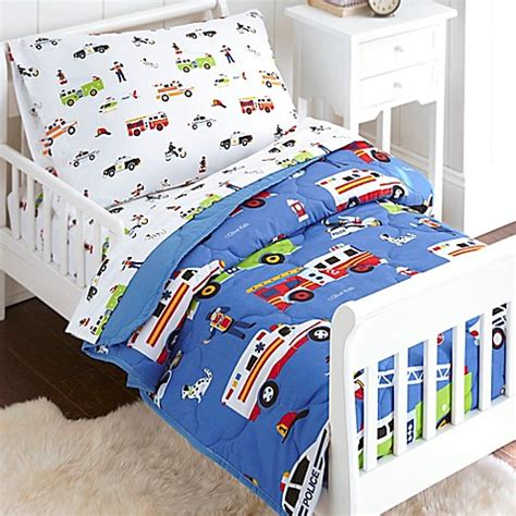 olive kids bedding olive kids heroes 4 piece toddler bedding set in blue bed bath beyond