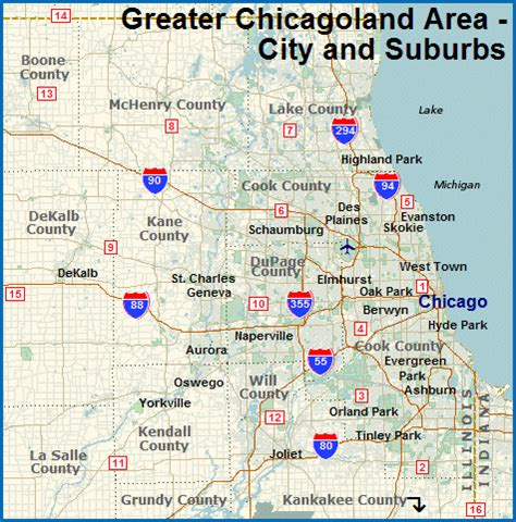 Map Of Chicago Suburbs by Map Of North Suburbs Related Keywords Amp Suggestions Map