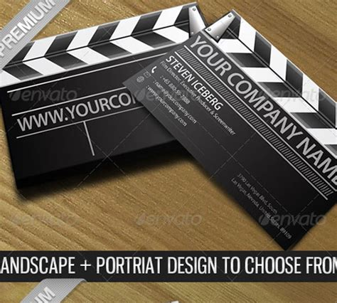 filmmaker business cards templates 50 cool premium business card templates naldz graphics