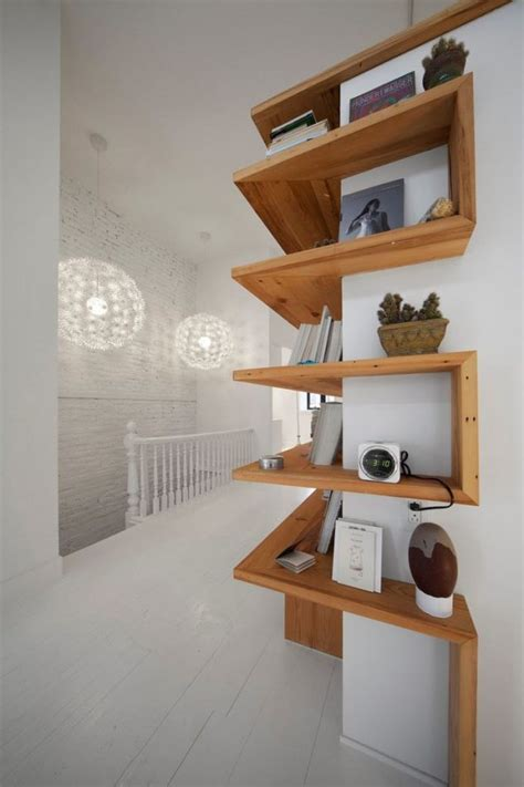 how to put wooden corner shelves in your home to decorate it