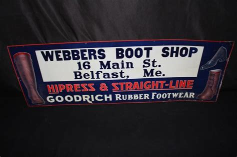 Goodrich Rubber Footwear Belfast Maine Tin Sign