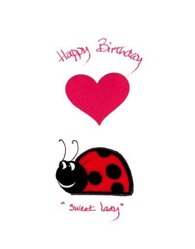 free printable birthday cards ladybugs handmade fabric birthday greeting card for a sweet little lady