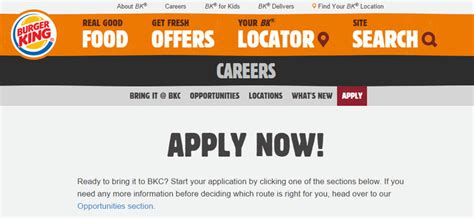 Burger King Mba Leadership Program Glassdoor by Burger King Application Form Tips
