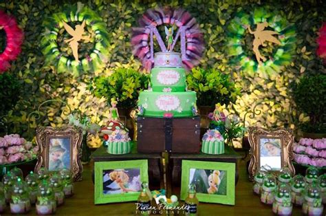 Fairies For Garden Decor Kara S Ideas Tinkerbell Garden Birthday Kara S Ideas