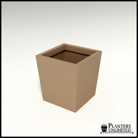 Tapered Square Planter by Modern Tapered Square Planter 20in L X 20in W X20in H