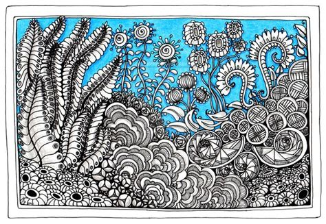 doodle creation doodle garden by artwyrd on deviantart zentangle