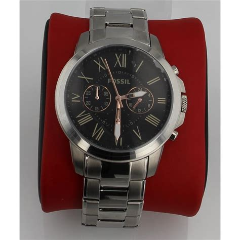 Fossil 4994 Original fossil s fs4994 grant chronograph stainless steel