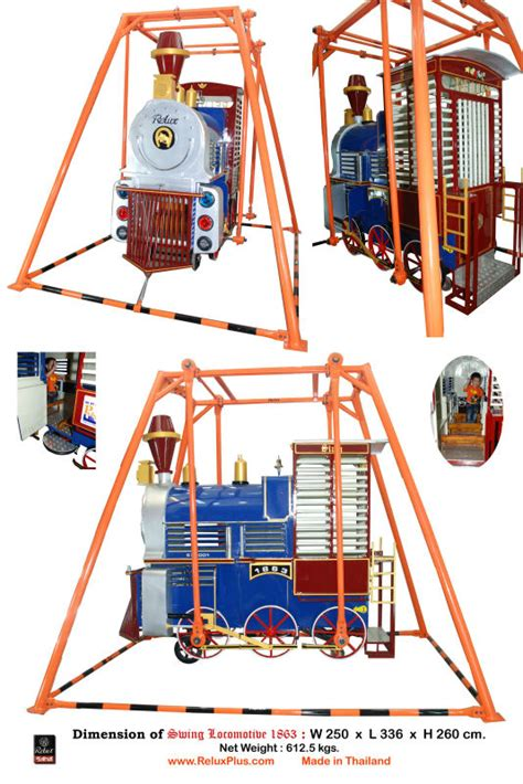 loco swing relux steel swing locomotive or iron playground thing
