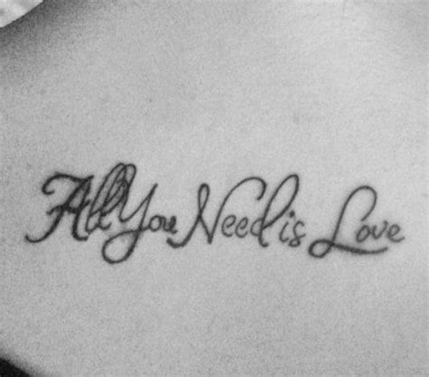 all you need is love tattoo design all you need is tattooshunt