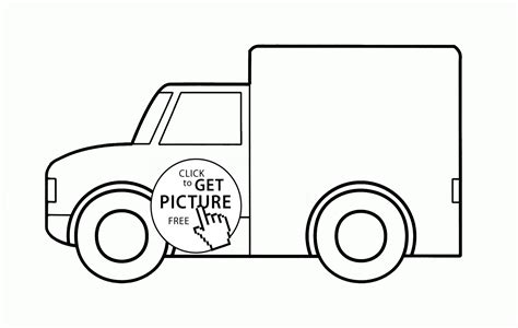 coloring page of a van van car coloring page for toddlers transportation
