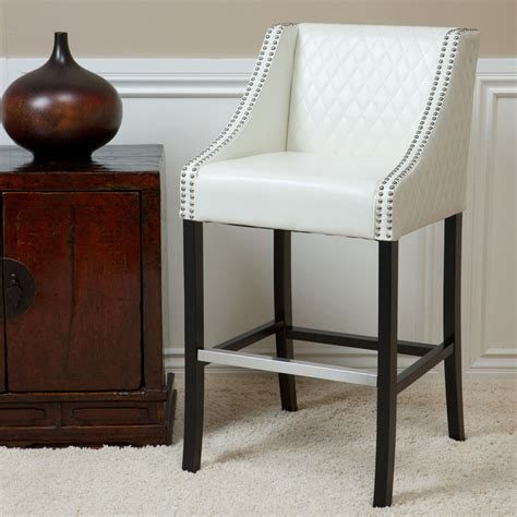 christopher knight bar stool christopher knight home milano ivory quilted bonded