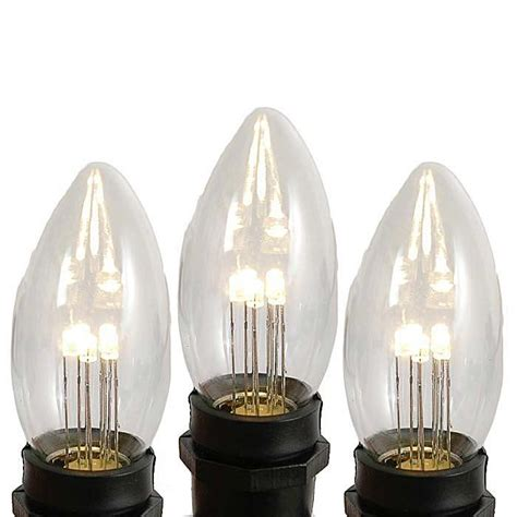 clear led light bulbs clear and white c9 bulbs novelty lights inc