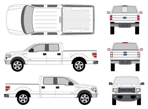 25 Images Of Crew Cab Truck Diagram Template Unemeuf Com Ford F150 Wrap Template
