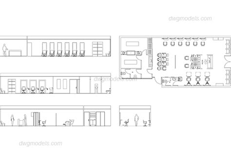 hair salon layout cad hairdressing salon 1 dwg free cad blocks download