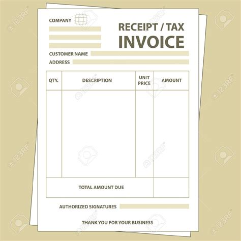 Receipt Or Invoice Template by Tax Invoice Receipt Template Invoice Template Ideas