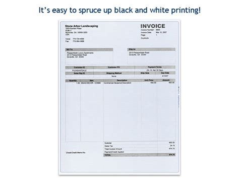 sle of yardi software add color to your black white quickbooks invoice