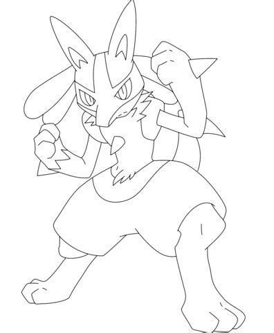 pokemon coloring pages of lucario lucario coloring page free printable coloring pages