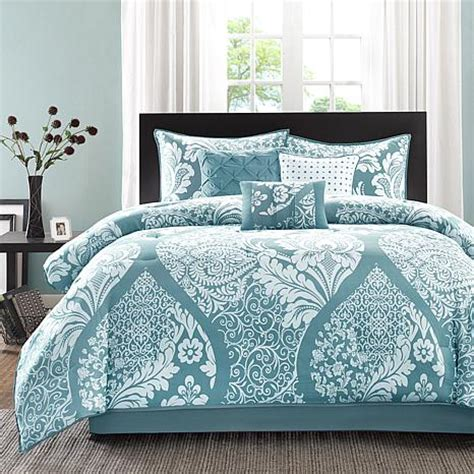 blue queen comforter sets madison park vienna blue comforter set queen 7903337 hsn