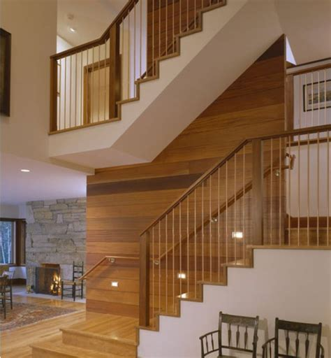 wood stair design modern handrail designs that make the staircase stand out