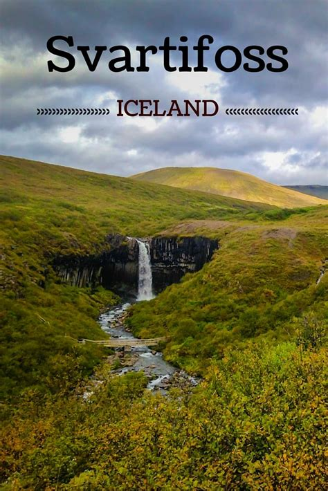 iceland the official travel guide books svartifoss waterfall in skaftafell photos and practical info