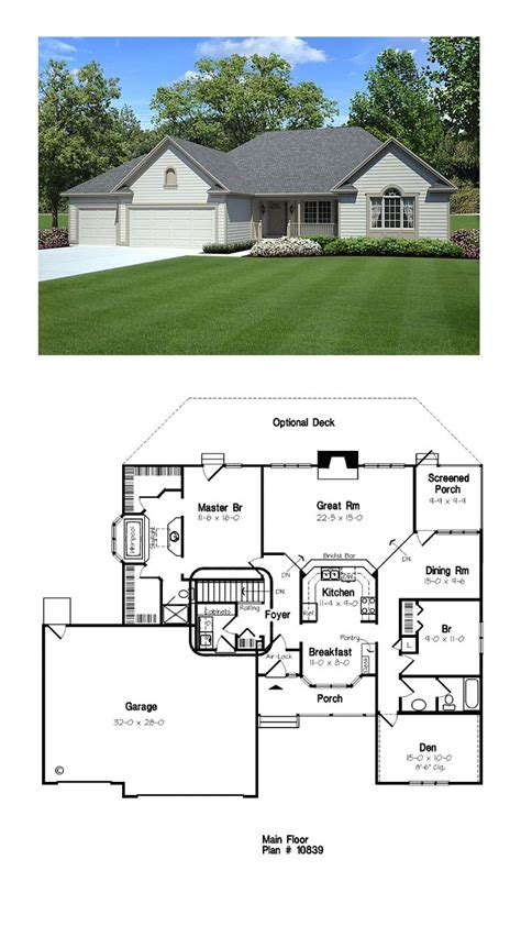 ranch floorplans ranch traditional house plan 10839 house plans