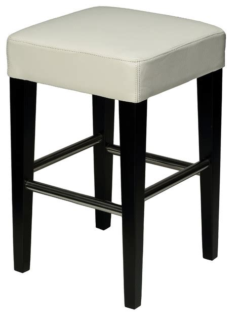 cortesi home backless counter stool in genuine leather
