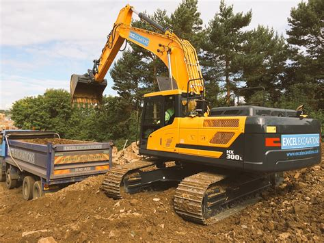 in the uk excel excavations take delivery of the hyundai hx300 l excavator in the uk