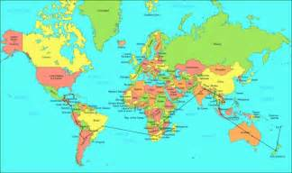 map map of the world showing countries large map of the
