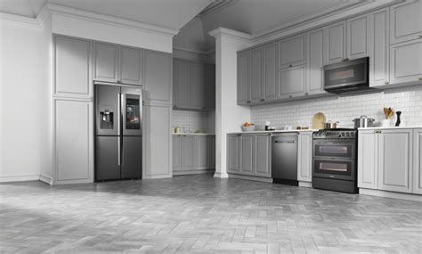 black or stainless appliances with white cabinets black stainless steel appliances design