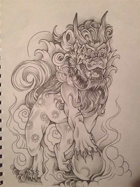 chinese foo dog tattoo designs foo design by relentless giff deviantart on