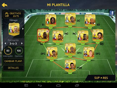 tutorial fifa 15 ut android equipo para fifa 15 ultimate team android juegos on