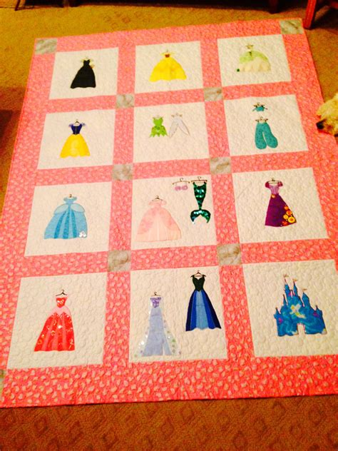 Princess Quilt Patterns by Disney Princess Inspired Applique Quilt Pattern Instant