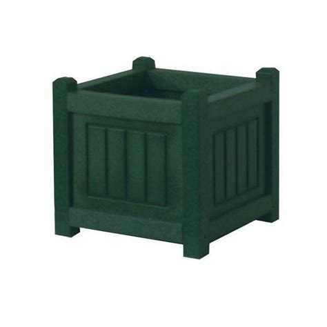 Plastic Planter Boxes Home Depot by Eagle One Nantucket 12 In X 12 In Green Recycled Plastic Commercial Grade Planter Box C50012g