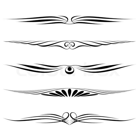 Decorative Line Borders by Decorative Elements Border And Page Stock Vector
