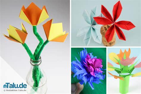 Blume Falten Kindergarten by Papierblumen Basteln Mit Kindern 4 Ideen F 252 R Farbenfrohe