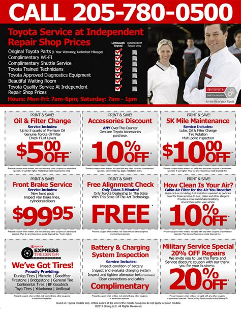 Toyota Coupons Toyota Service Specials Toyota Parts Specials Toyota