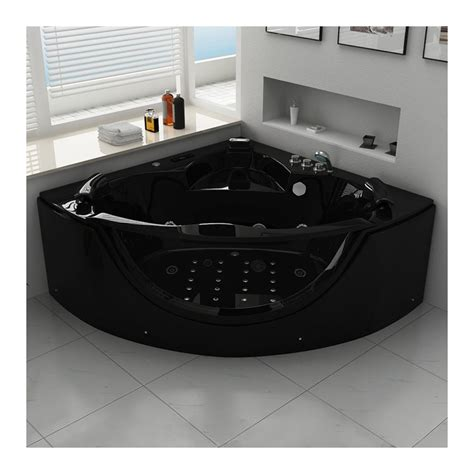 Baignoire Biplace by Black Baignoire Balneo D Angle Whirlpool 32 Jets