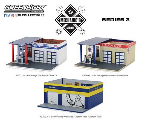 Diorama Mechanics Corner Series 1 Vintage Gas Station Texaco By Gl vintage gas greenlight collectibles
