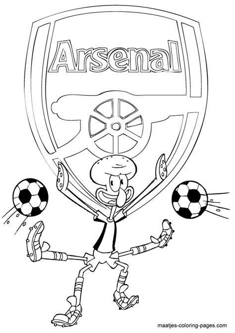 arsenal free colouring pages