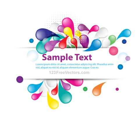 abstract design banners vector free download vector abstract colorful banner design download free